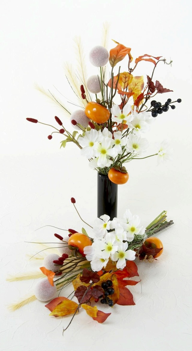 【造花仏花・供花】秋のハイセンス造花・供花C-左右1対セット