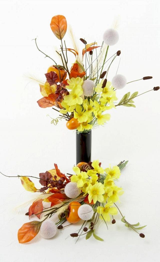 【造花仏花・供花】秋のハイセンス造花・供花E-左右1対セット