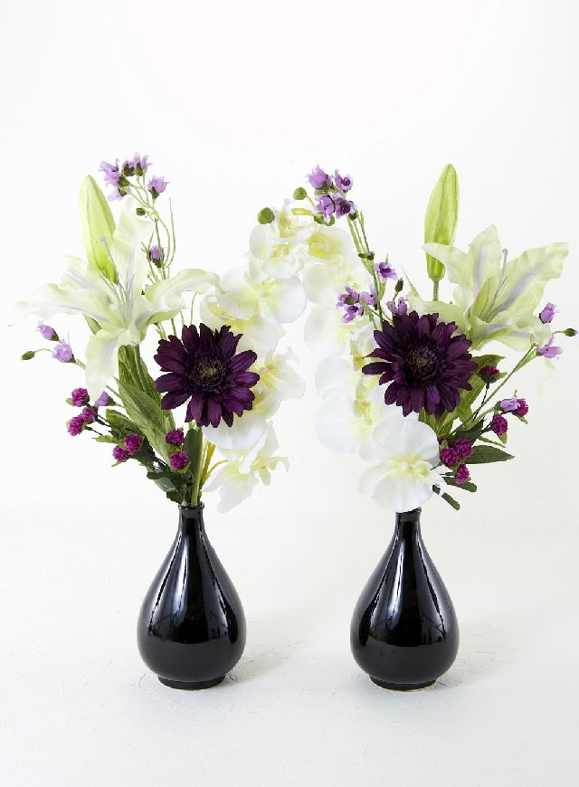 【造花 仏花】小菊&マムの供花(左右1対セット)