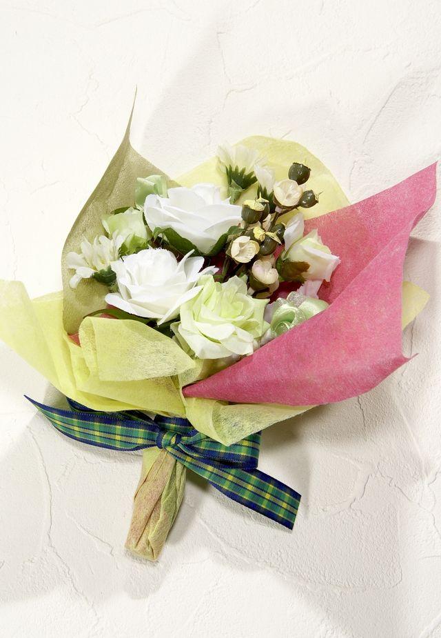 【造花ミニ花束】手のひらブーケ75