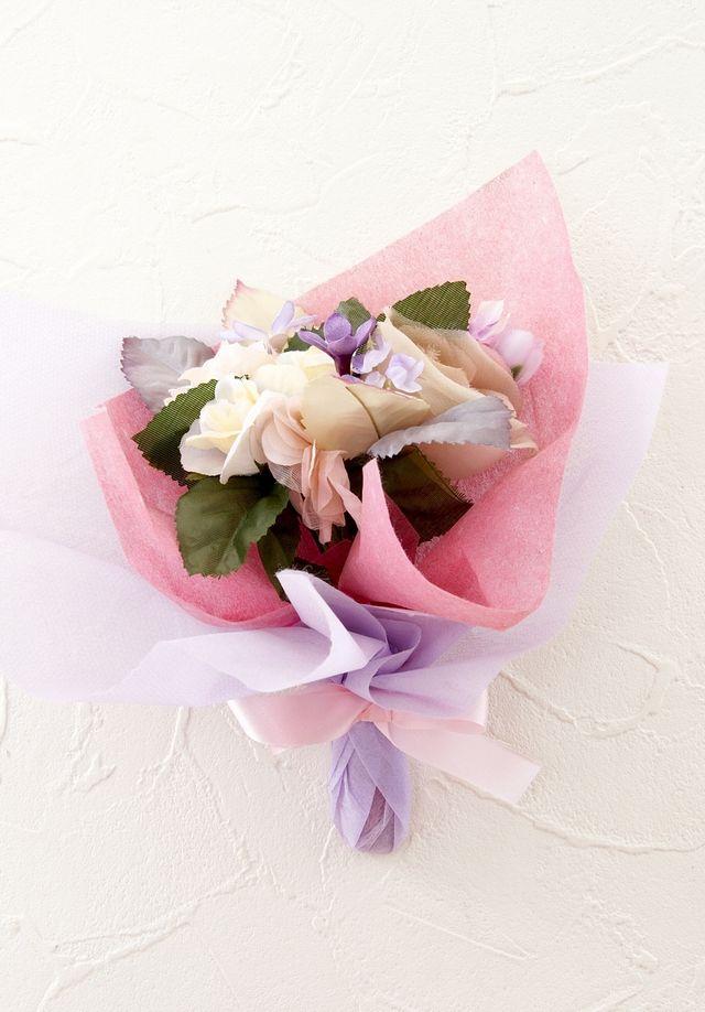 【造花ミニ花束】手のひらブーケ118