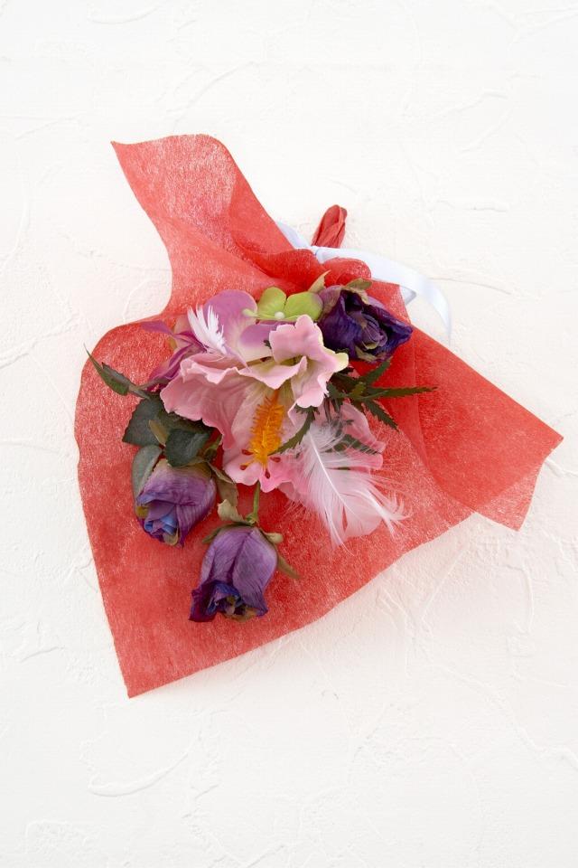 【造花ミニ花束】手のひらブーケ13