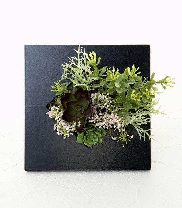 【スクエアフレーム 造花インテリアグリーン】乙女翠-Mサイズ