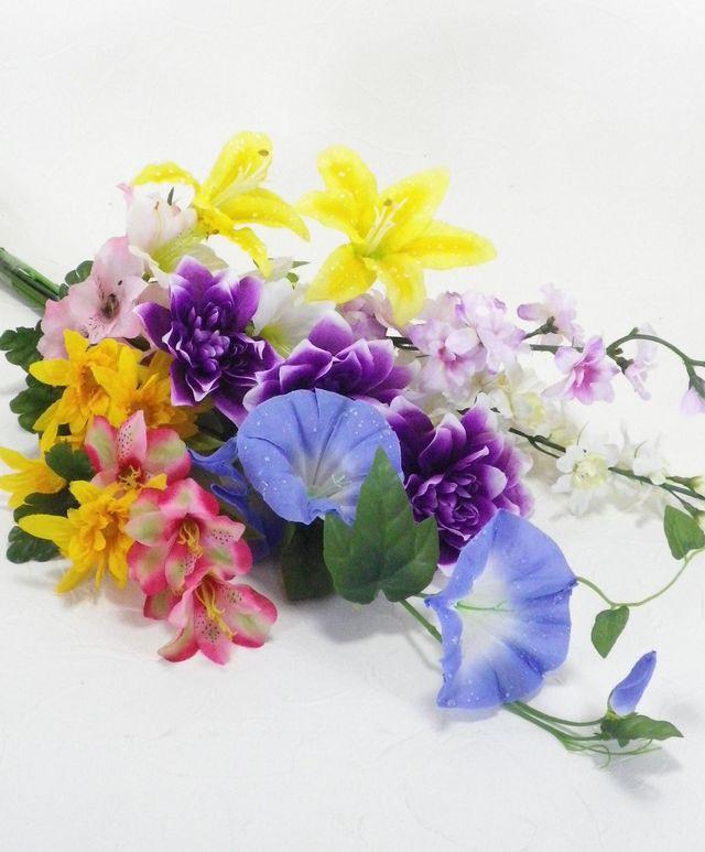 【造花供花】夏の造花の仏花M(1束)