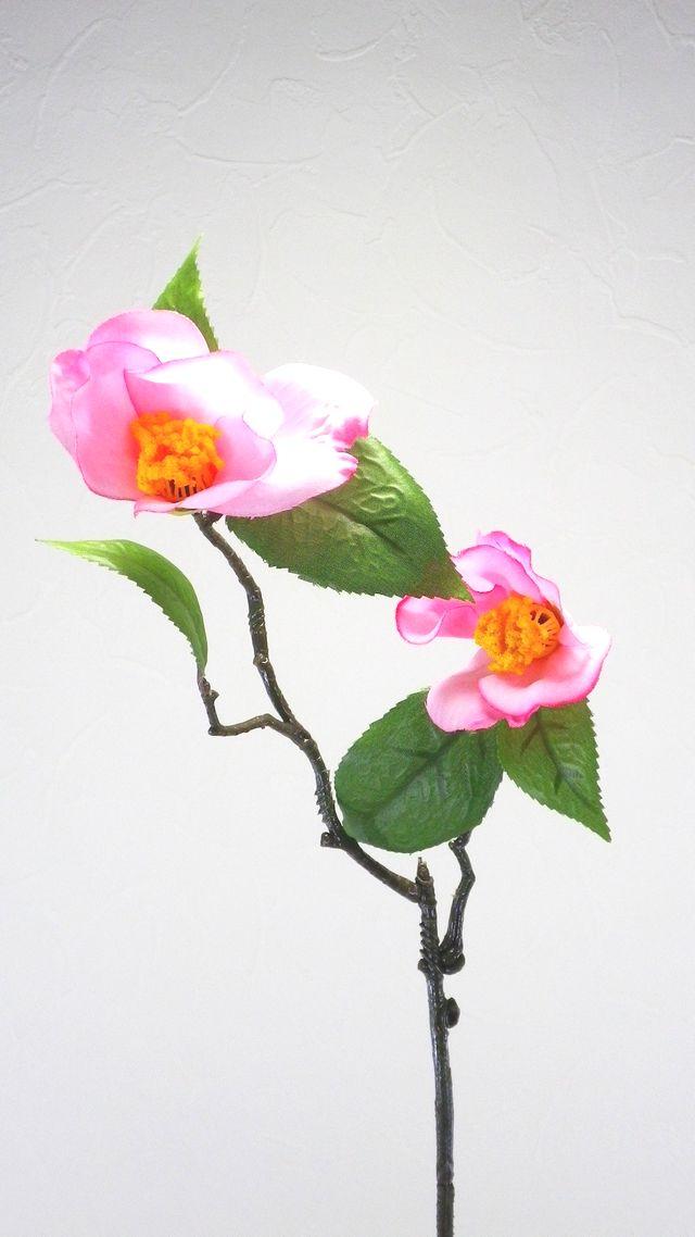【造花・アートフラワー・シルクフラワー】椿(ピンク)