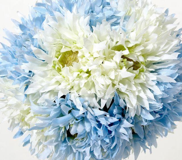 【フラワーボール・造花インテリア】ガーベラボール・ブルー