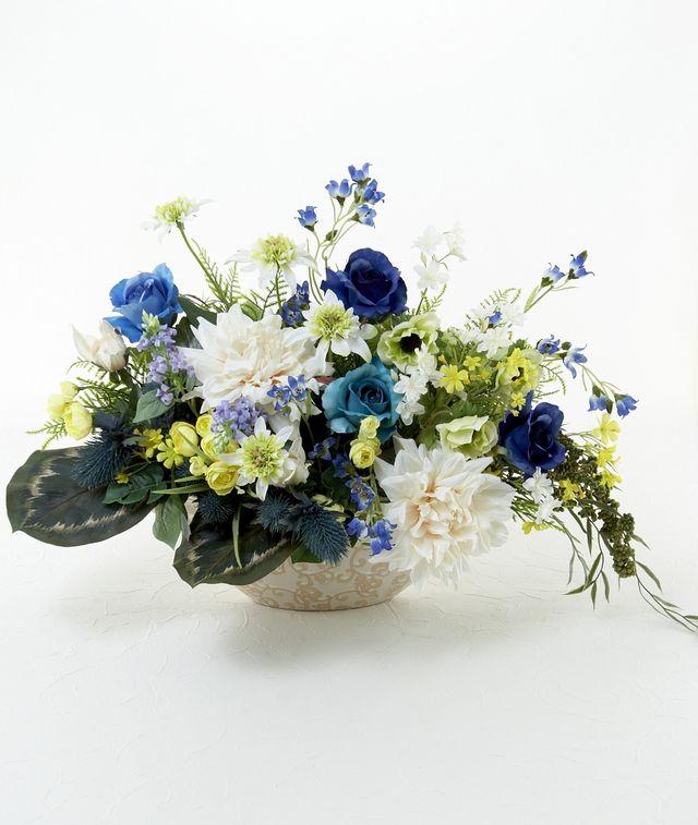 【造花アレンジメント】ブルードリーム