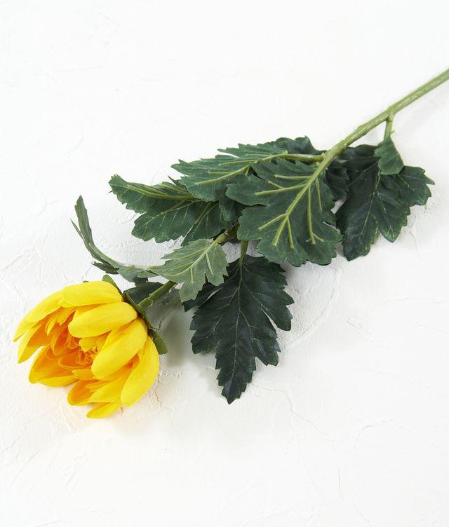 【造花・アートフラワー・シルクフラワー】菊(イエロー)