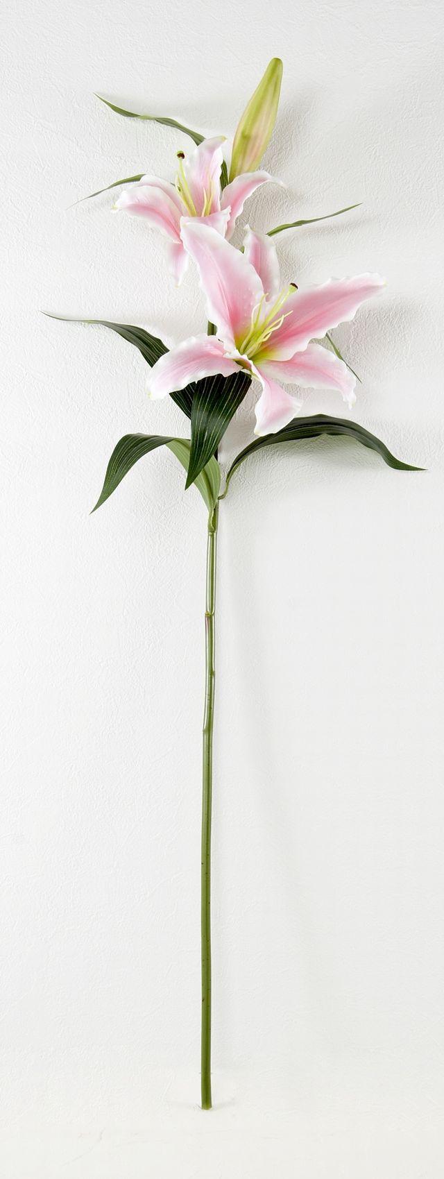 【造花・アートフラワー・シルクフラワー】クイーン・カサブランカ(ピンク)
